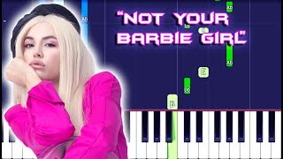 Ava Max   Not Your Barbie Girl Piano Tutorial EASY (Piano Cover)