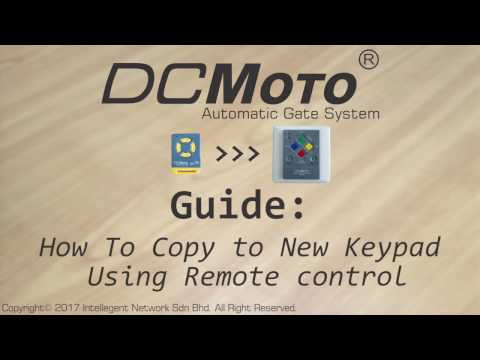 How to Copy Remote Control to wireless Keypad (DCMoto)