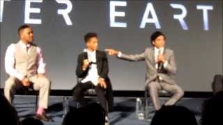 Full After Earth Q&A with Will Smith, Jaden Smith, M. Night Shyamalan, London #afterearth
