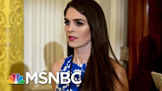 Hope Hicks Visit Raises Concern Over Potential Trump Witness Tampering | Rachel Maddow | MSNBC