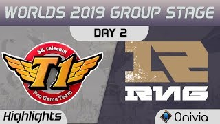 SKT vs RNG Highlights Worlds 2019 Main Event Group Stage SK Telecom T1 vs Royal Never Give Up by Oni