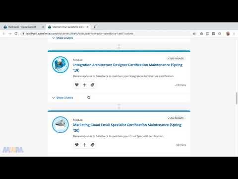 Salesforce Certification Maintenance Schedule - Now Once Per ...