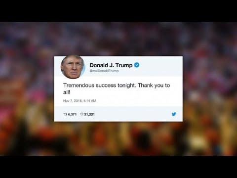 Trump calls midterm elections 'tremendous success'