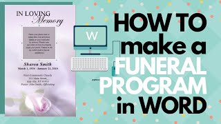How To Customize A Funeral Program Template