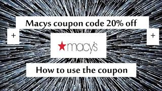 Maycs promo code save 20% off your order