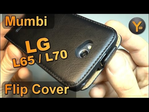 Kurztest: Mumbi Leder Flip-Cover für LG L65 / L70 Smartphone Schutzhülle