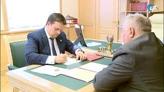 Губернатор Андрей Никитин провел рабочую встречу с главой Маловишерского района Николаем Масловым