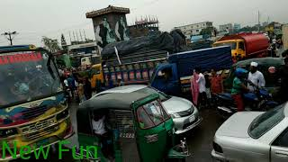 preview picture of video 'Traffic jam (ট্রাফিক জ্যাম) Dhaka to Chittagong Road.'
