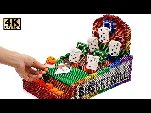 DIY - How To Make Basketball Board Game with Magnetic Balls ( Satisfaction 100% ) | Magnet World 4K