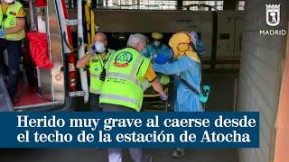 Herido muy grave al caerse desde el techo de la estación de Atocha a las vías del AVE