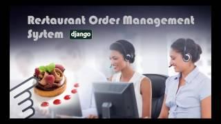 Django Restaurant Order Management System.