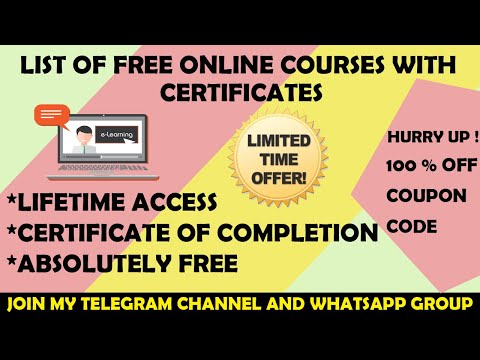 List of Free Courses with Printable Certificates   15 Free Online ...