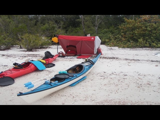 What Gear to Take While Kayak Camping / How to Pack a Kayak and Set up Camp on a Beach
