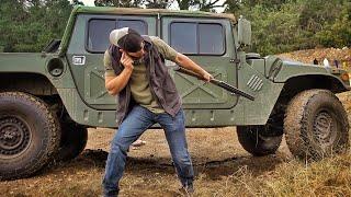 How Bulletproof are Kevlar Humvee Tires???