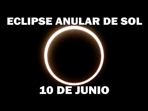 ECLIPSE ANULAR DE SOL EL 10 DE JUNIO  ECLIPSE DE SOL PARCIAL