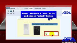 "Unlocking procedure of  ""Emulator: 5""  (46 Çip - Pcf 7952)"