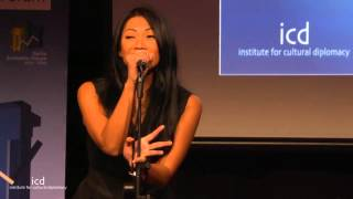 Anggun talks about the power of music at the Institute for Cultural Diplomacy A World without Walls