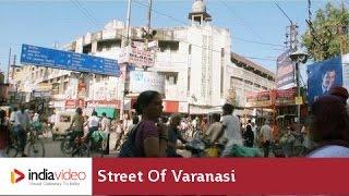 Bustling Street in Varanasi