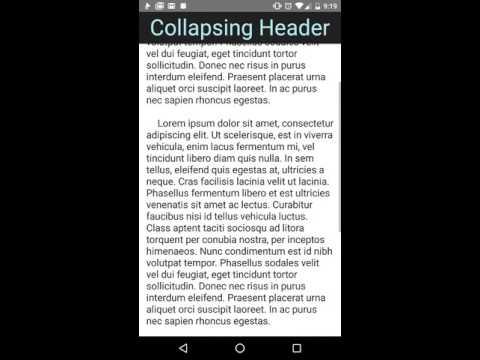 NativeScript Collapsing Header. Click to Play