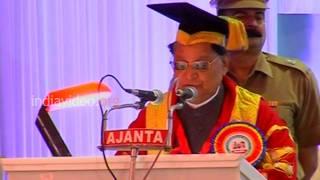 D. Litt degree giving function, Kerala University