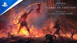 PlayStation The Elder Scrolls Online: Flames of Ambition - Gameplay Trailer | PS4 anuncio