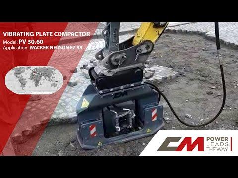 CM Crusher PV30.60, Anbauverdichter - Rüttelplatte, Baggerklasse 3-6 To. Anbauverdichter
