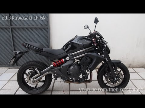Kawasaki ER6N - Two Brothers Racing v.s Stock Exhaust vs. Straigh Pipe Sound