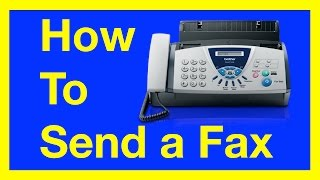 How to Send a Fax from a Fax Machine : How to Fax