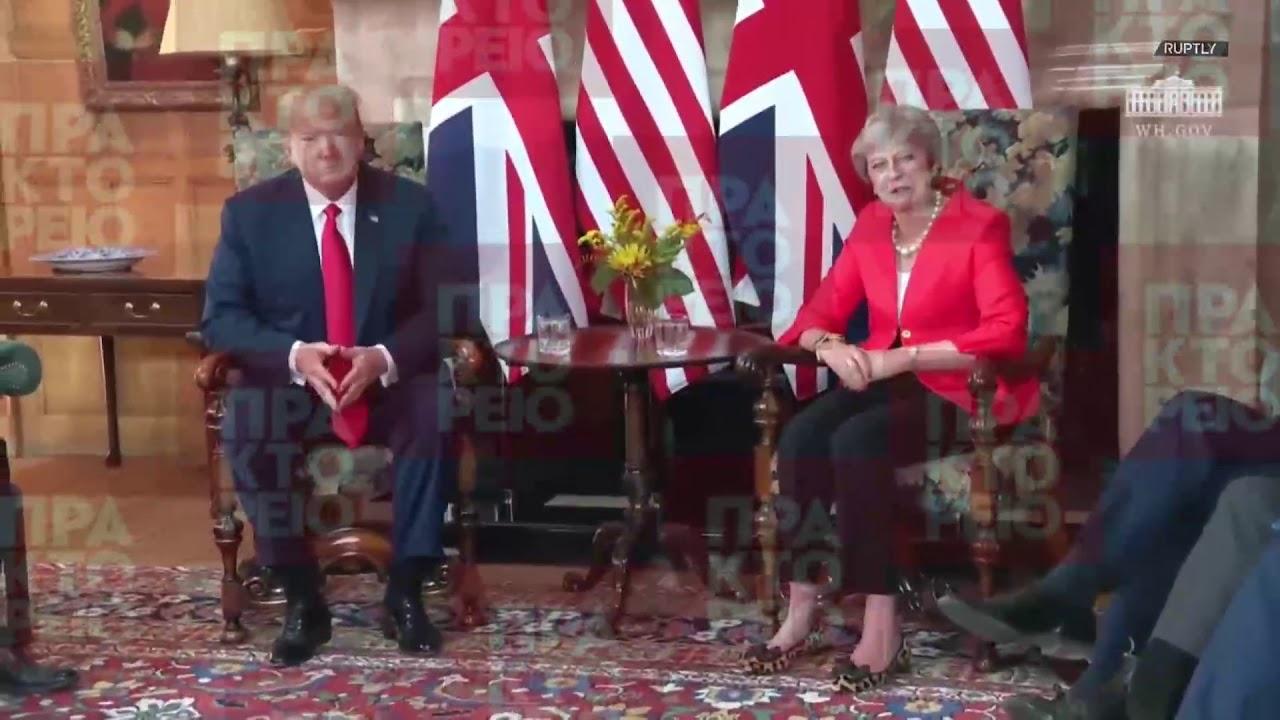 Συνάντησή του Προέδρου των ΗΠΑ Ντόναλντ Τράμπ με τη Βρετανίδα πρωθυπουργό Τερέζα Μέι