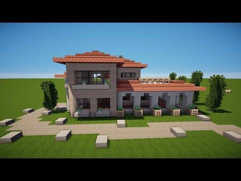 Minecraft Modernes Haus Freitag Hochhaus Braunweiß Bauen - Minecraft hauser zum nachbauen deutsch