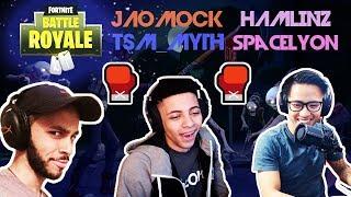 TSM_Myth Vs Hamlinz Vs Spacelyon Vs Jaomock 🥊Streamer Vs Streamer🥊Game1 (Fortnite)
