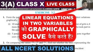 Exercise 3.1 Linear Equations In Two Variables Class 10 Maths