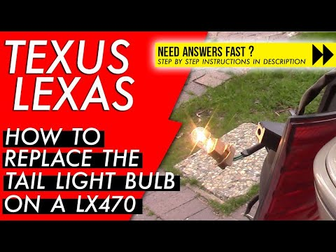How to Replace the Rear Tail Light on a Lexus LX 470
