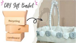 Recycling Of Cardboard, DIY Gift Basket Tutorial  Birthday/baby Shower/bridal Shower Handmade Basket