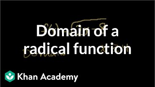 Domain of a Radical Function