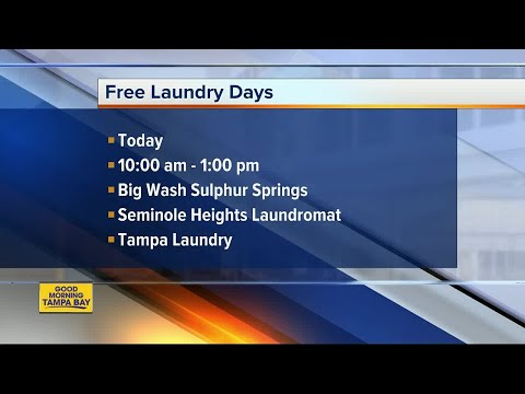Free laundry days for Hurricane Irma victims