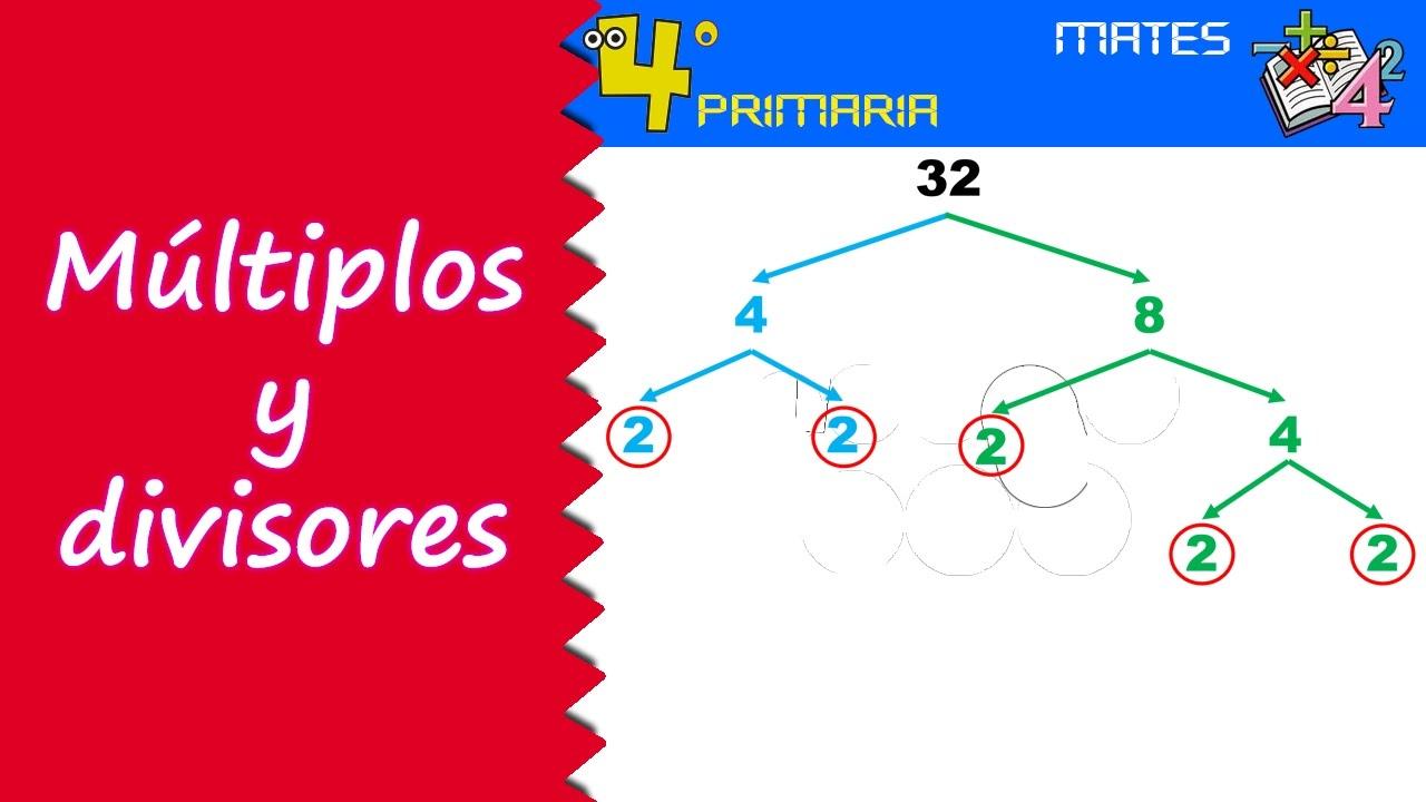 Matemáticas. 4º Primaria. Tema 2. Múltiplos y divisores