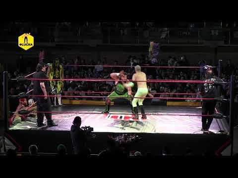 Damián 666, Bestia 666 VS Fresero Jr, Mr. Iguana VS The Tiger, Relámpago - Nación Lucha Libre