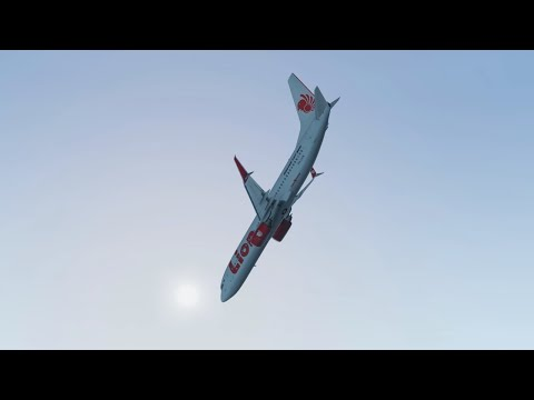 Lion Air Flight JT610 - Crash Animation [X-Plane 11]