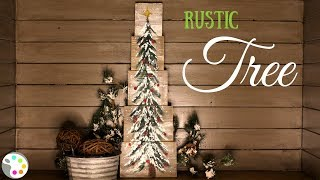 How To Paint A Christmas Tree On Wood | DIY Christmas Decor