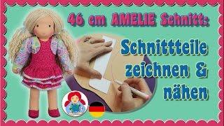 DIY   Schnittteile zeichnen und nähen Sami Puppenschnitt AMELIE • Sami Doll Tutorials