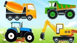 Мультик про машинки - Строительные Машины: Экскаватор, Трактор, Грузовик Ремонт Дороги