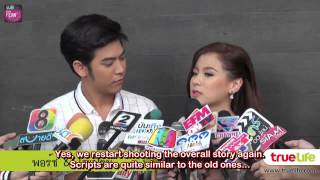 "[ENG SUB] Baifern & Porshe At The Opening Ceremony Of ""Khun Pee Tee Ruk"" (Jan 22, 2014)"