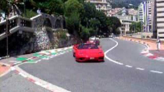preview picture of video '2 red ferrari's on monaco formula 1 race track/monte carlo 2008'