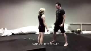 Jeff Wolfe & Heidi Moneymaker - The Avengers (2012) stunt rehearsal
