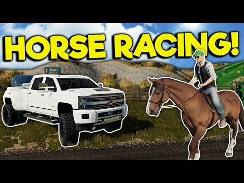 HORSE FARM & RACING IN MULTIPLAYER! – Farming Simulator 19 Gameplay – Chevy & Map Mod