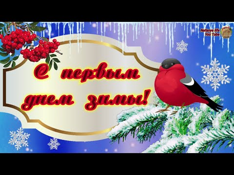 С Первым Днем Зимы! Самое Красивое Поздравление с первым зимним днем. 1 декабря. С добрым утром!