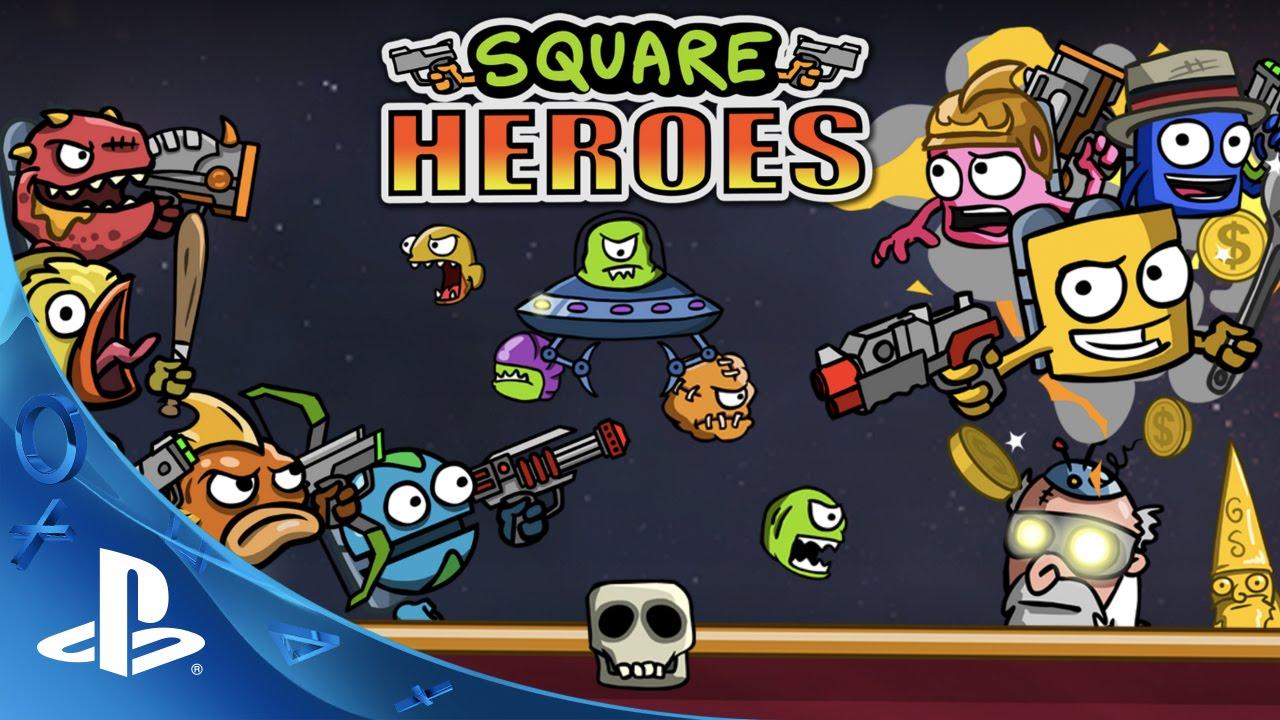 El shooter multijugador controlado con dos joysticks, Square Heroes, llegará a PS4 el próximo mes