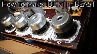 How To Make Bluetooth Portable Speaker [JBL Killer Beast] [DIY]