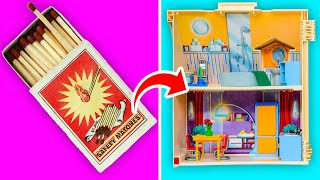 39 DOLL HACKS YOU CAN TRY || Dollhouse Furniture And Cute Barbie Hairstyles!